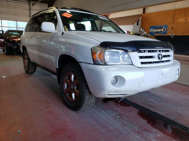 Salvage cars for sale from Copart Angola, NY: 2004 Toyota Highlander