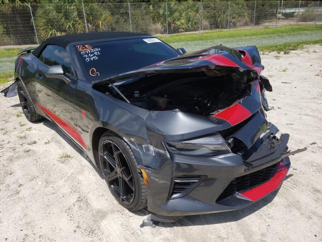Salvage cars for sale from Copart Fort Pierce, FL: 2017 Chevrolet Camaro SS