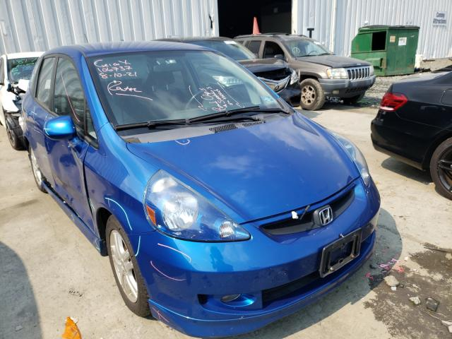 Salvage cars for sale from Copart Chambersburg, PA: 2007 Honda FIT S