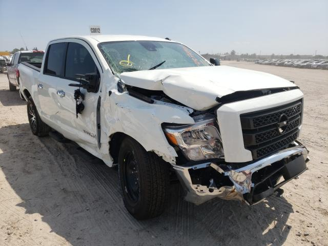 Salvage cars for sale from Copart Houston, TX: 2021 Nissan Titan SV