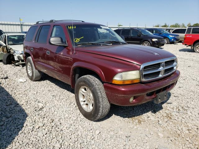 Salvage cars for sale from Copart Appleton, WI: 2002 Dodge Durango SL