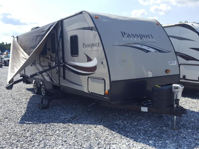 Salvage trucks for sale at York Haven, PA auction: 2015 Passport Ultra Lite