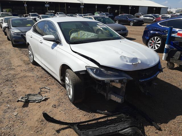 Salvage cars for sale from Copart Phoenix, AZ: 2015 Chrysler 200 Limited