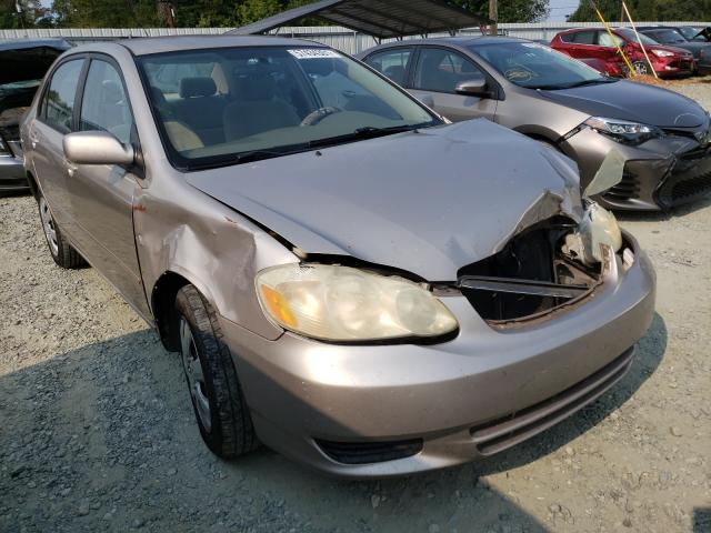 Salvage cars for sale from Copart Mebane, NC: 2003 Toyota Corolla CE