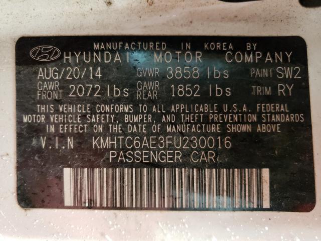 2015 HYUNDAI VELOSTER T KMHTC6AE3FU230016