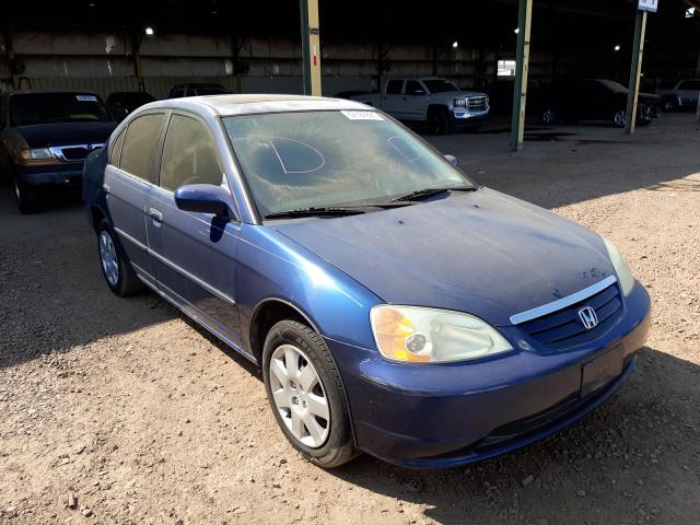 Salvage cars for sale from Copart Phoenix, AZ: 2001 Honda Civic EX