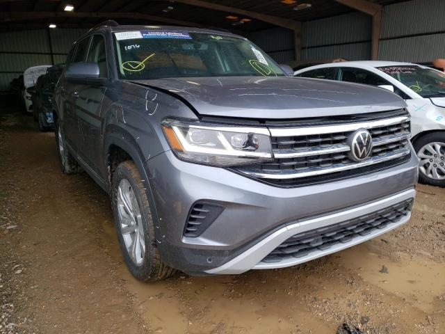 Salvage cars for sale from Copart Houston, TX: 2021 Volkswagen Atlas SE