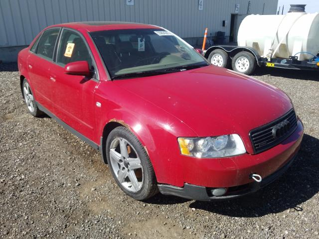 Salvage cars for sale from Copart Rocky View County, AB: 2003 Audi A4 1.8T Quattro