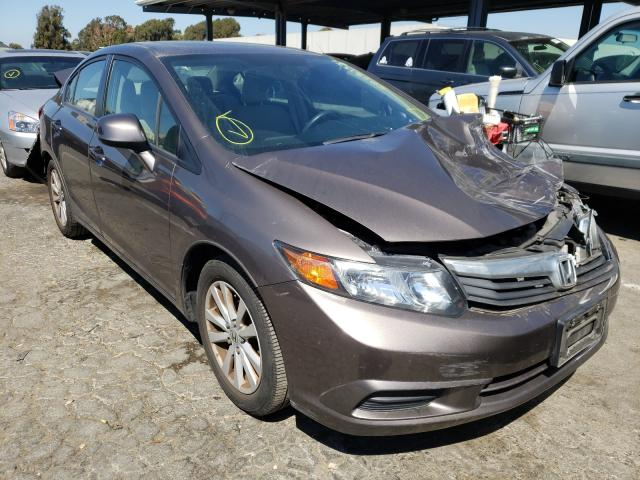 Salvage cars for sale from Copart Hayward, CA: 2012 Honda Civic EX