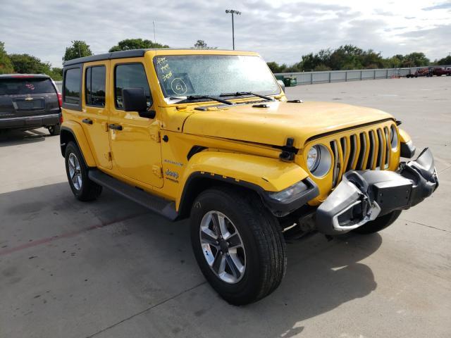 Vehiculos salvage en venta de Copart Wilmer, TX: 2020 Jeep Wrangler U