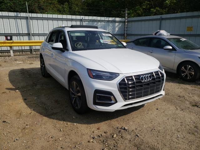 Salvage cars for sale from Copart Glassboro, NJ: 2021 Audi Q5 Premium