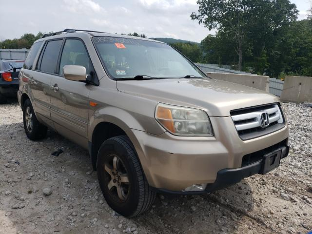 Salvage cars for sale from Copart Warren, MA: 2006 Honda Pilot EX