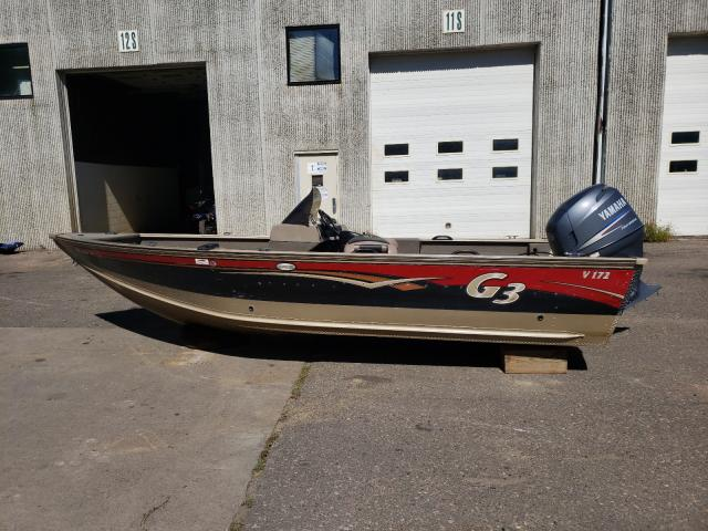 Salvage boats for sale at Ham Lake, MN auction: 2011 G3 172C