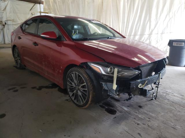 Salvage cars for sale from Copart Ebensburg, PA: 2017 Hyundai Elantra SP