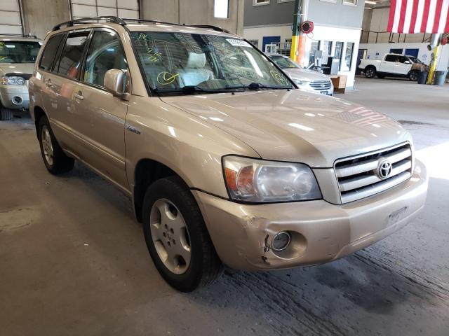 Salvage cars for sale from Copart Blaine, MN: 2005 Toyota Highlander
