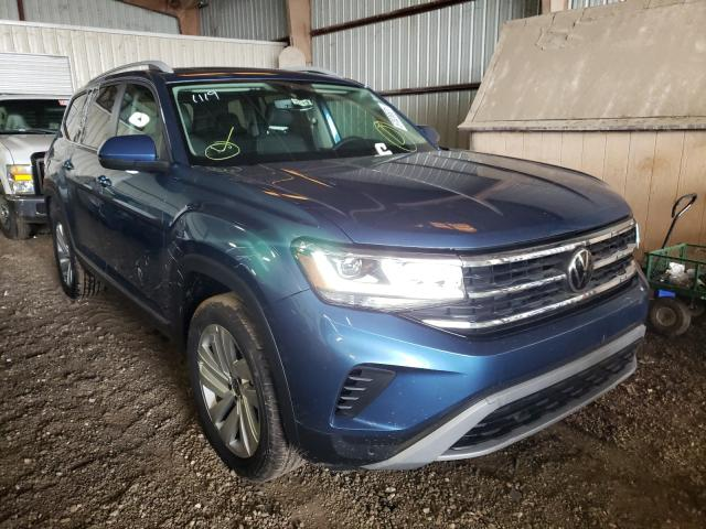 Salvage cars for sale from Copart Houston, TX: 2021 Volkswagen Atlas SEL