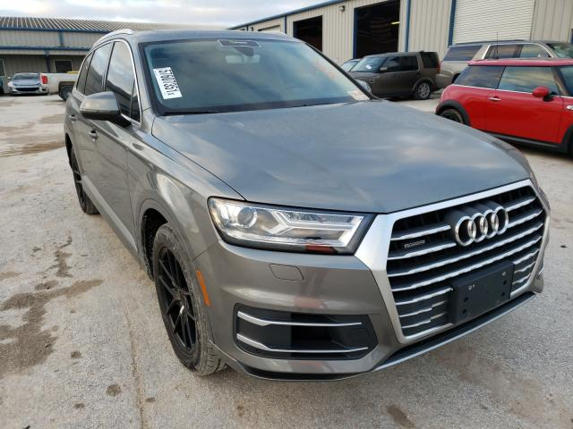 Salvage cars for sale from Copart Houston, TX: 2017 Audi Q7 Premium