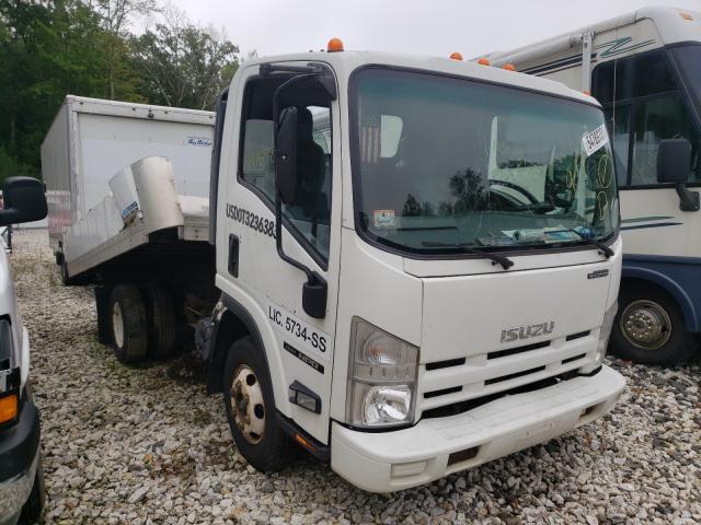 Salvage trucks for sale at Warren, MA auction: 2015 Isuzu NPR