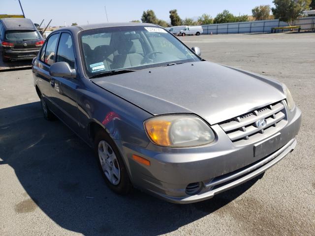 Hyundai Accent salvage cars for sale: 2005 Hyundai Accent
