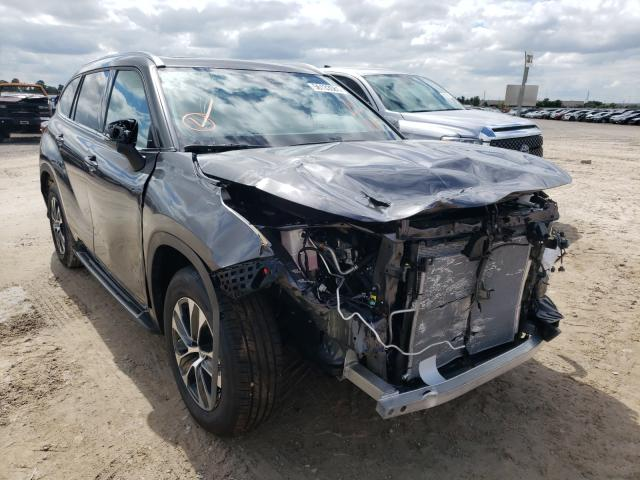 Salvage cars for sale from Copart Houston, TX: 2021 Toyota Highlander