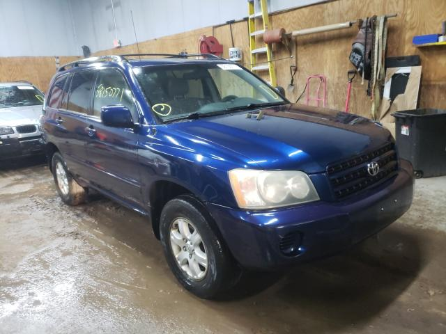 Salvage cars for sale from Copart Kincheloe, MI: 2003 Toyota Highlander