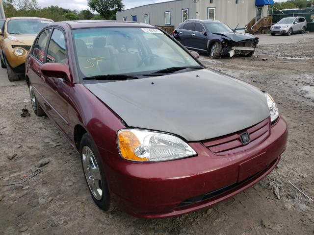 Salvage cars for sale from Copart Duryea, PA: 2003 Honda Civic EX