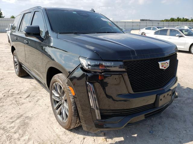 Salvage cars for sale from Copart Houston, TX: 2021 Cadillac Escalade S