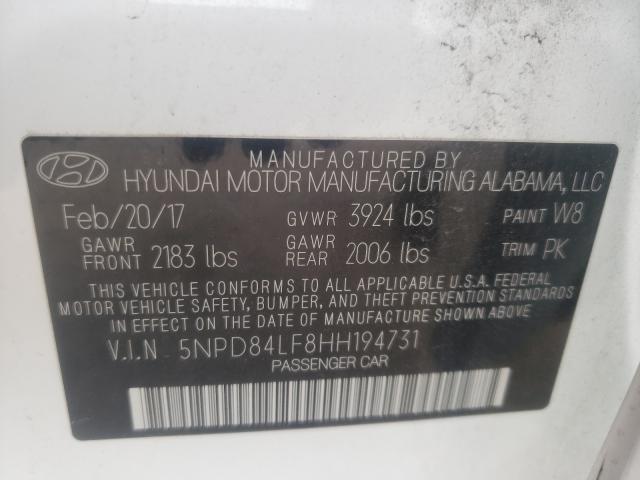 2017 HYUNDAI ELANTRA SE 5NPD84LF8HH194731
