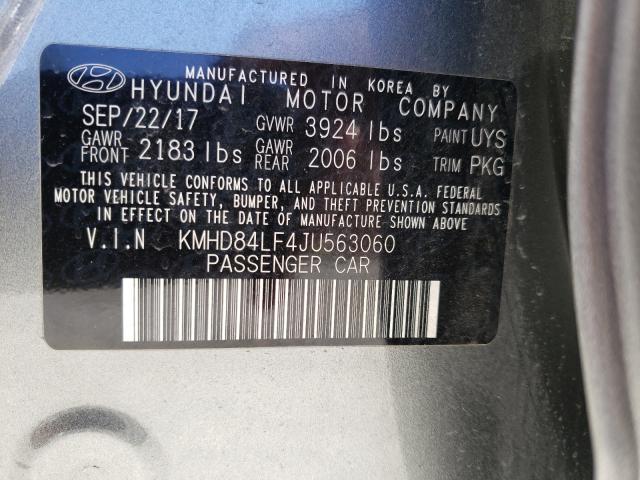 2018 HYUNDAI ELANTRA SE KMHD84LF4JU563060