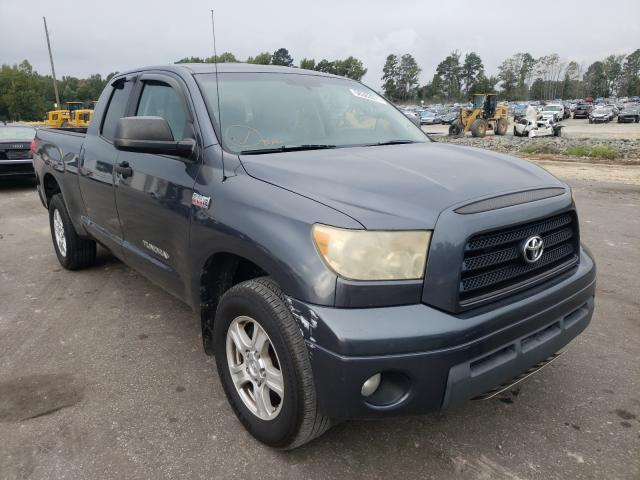 Salvage trucks for sale at Dunn, NC auction: 2007 Toyota Tundra DOU