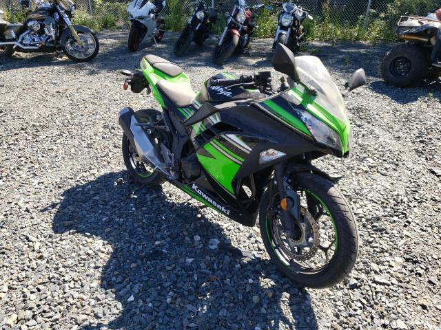 Salvage motorcycles for sale at Baltimore, MD auction: 2016 Kawasaki EX300 B