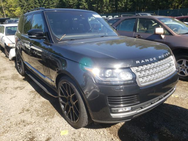 Salvage cars for sale from Copart Graham, WA: 2016 Land Rover Range Rover