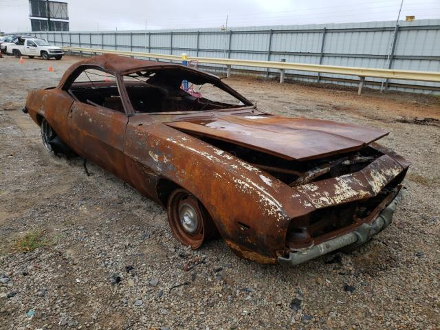 Salvage cars for sale from Copart Chatham, VA: 1969 Chevrolet Camaro