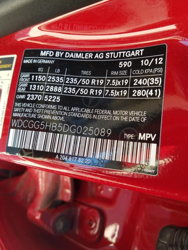 2013 MERCEDES-BENZ GLK 350 WDCGG5HB5DG025089