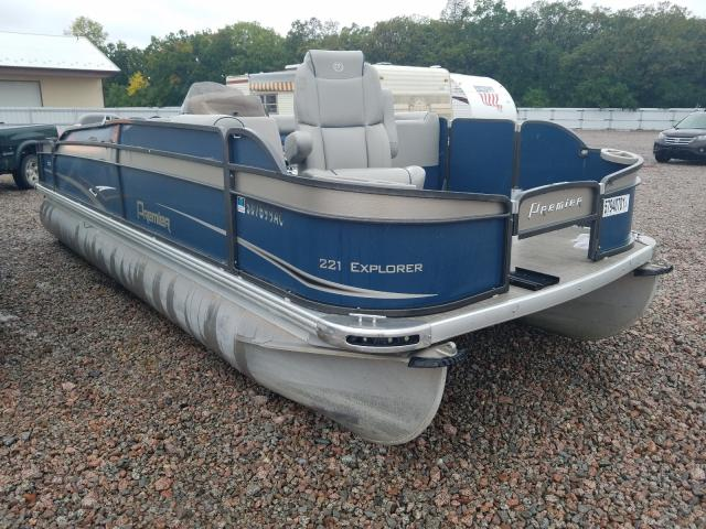 Salvage boats for sale at Avon, MN auction: 2015 Premier Pontoon