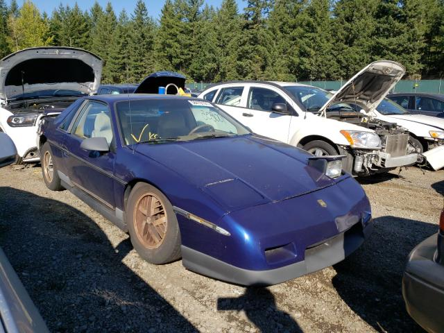 Salvage cars for sale from Copart Graham, WA: 1986 Pontiac Fiero SE