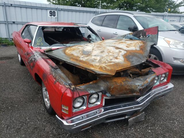 Chevrolet Impala salvage cars for sale: 1972 Chevrolet Impala