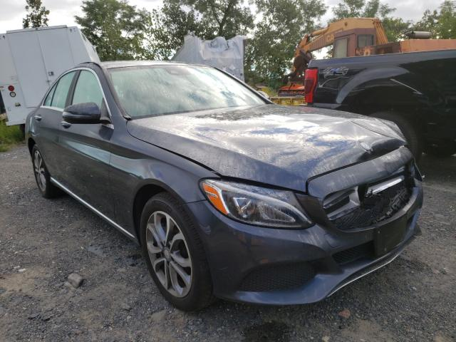 Salvage cars for sale from Copart Marlboro, NY: 2016 Mercedes-Benz C 300 4matic