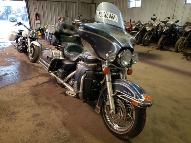 Salvage motorcycles for sale at Hillsborough, NJ auction: 2003 Harley-Davidson Flhtcui