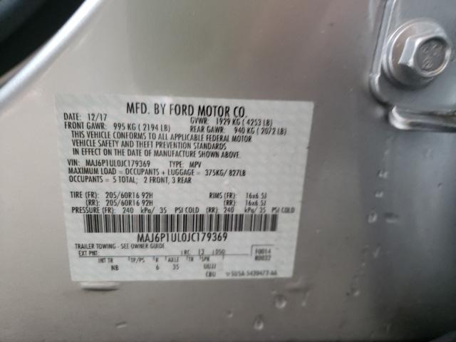 2018 FORD ECOSPORT S MAJ6P1UL0JC179369