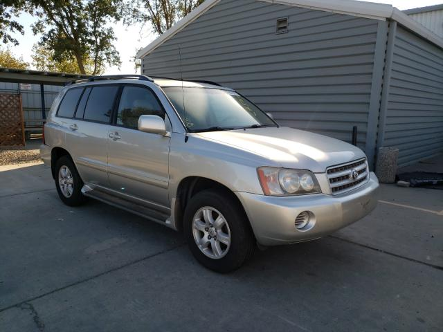 Salvage cars for sale from Copart Sacramento, CA: 2002 Toyota Highlander