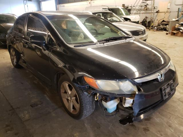Salvage cars for sale from Copart Wheeling, IL: 2008 Honda Civic EX