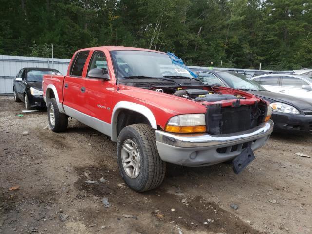 Salvage cars for sale at Lyman, ME auction: 2001 Dodge Dakota Quattro