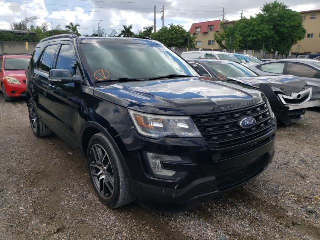 Salvage cars for sale from Copart Opa Locka, FL: 2016 Ford Explorer S