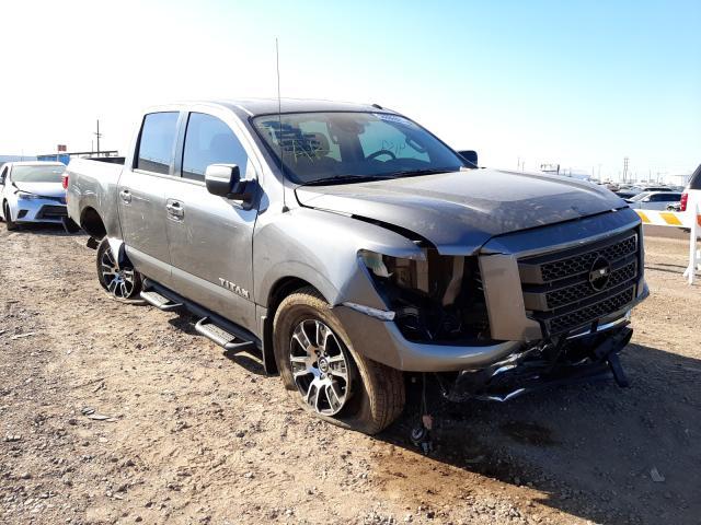 Salvage cars for sale at Phoenix, AZ auction: 2021 Nissan Titan SV