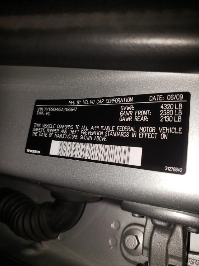 2010 VOLVO S40 2.4I YV1390MS5A2485847