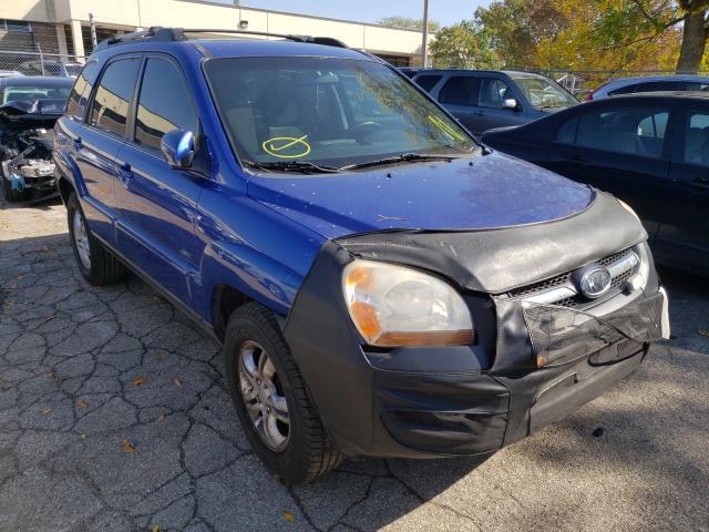 Salvage cars for sale from Copart Wheeling, IL: 2008 KIA Sportage E