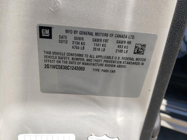 2012 CHEVROLET IMPALA LTZ 2G1WC5E36C1243069