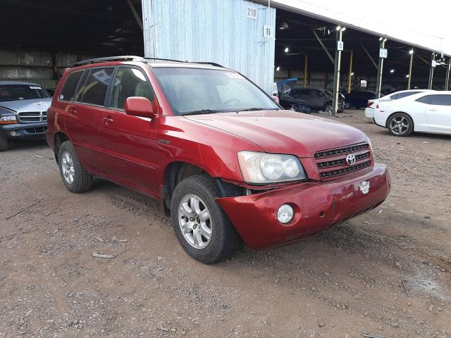 Salvage cars for sale from Copart Phoenix, AZ: 2002 Toyota Highlander