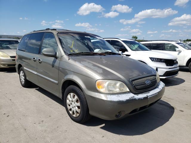 Salvage cars for sale from Copart Orlando, FL: 2005 KIA Sedona EX